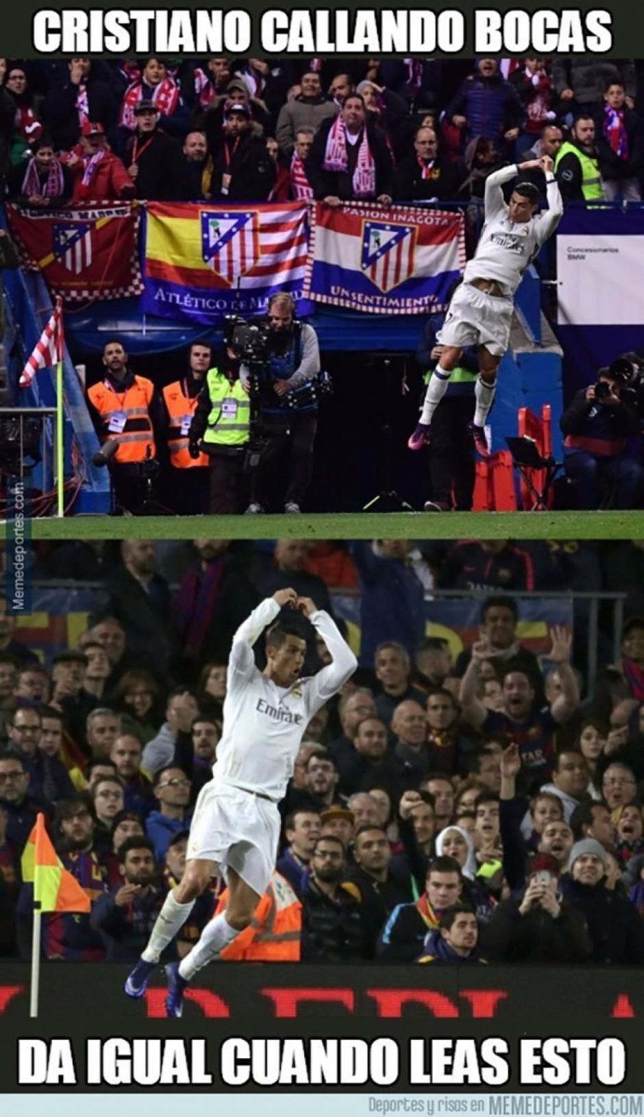 Cristiano Ronaldo sigue dominando al Atlético. (Foto: Twitter)