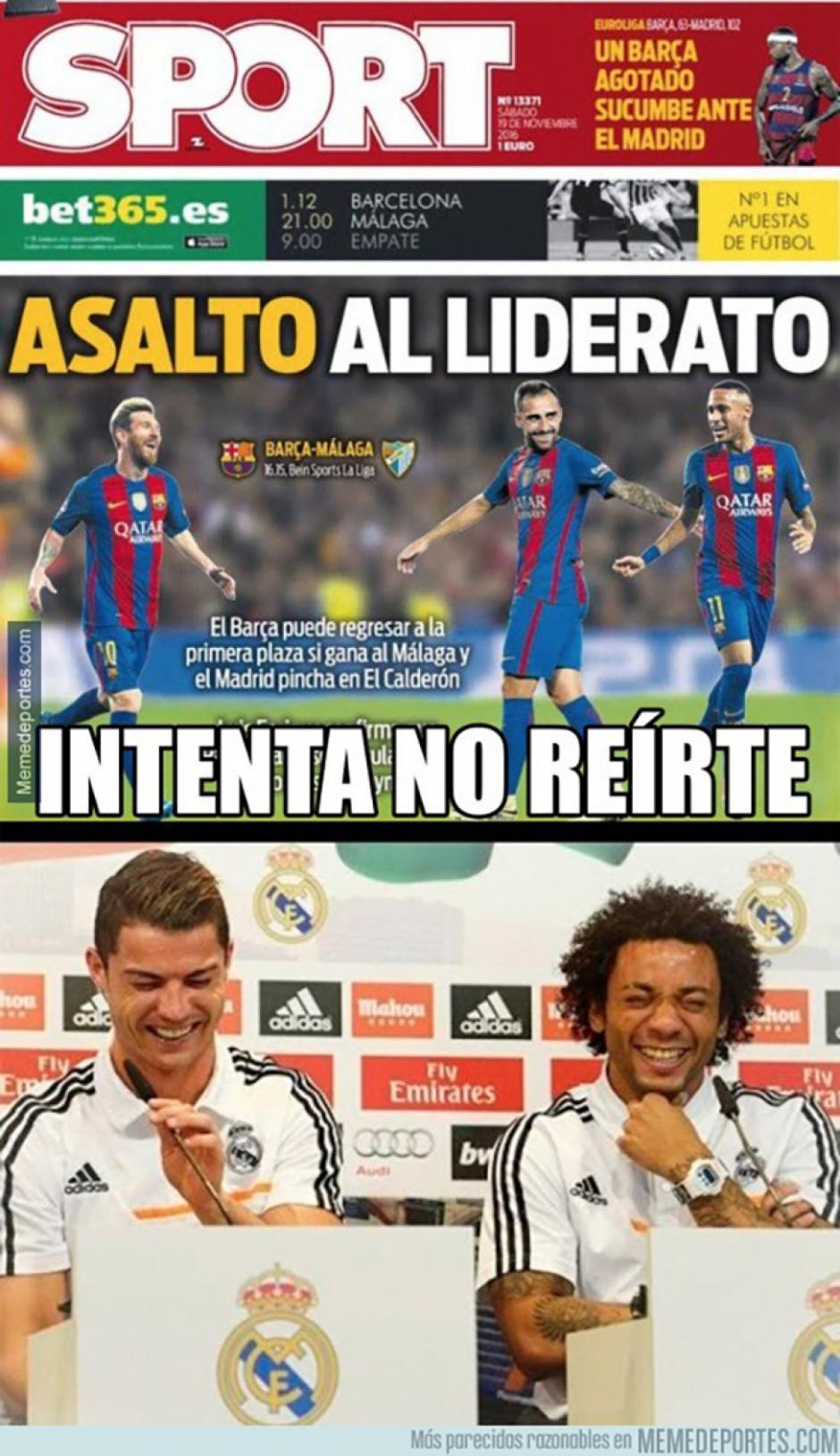 Las portadas fallidas en Barcelona. (Foto: Twitter)