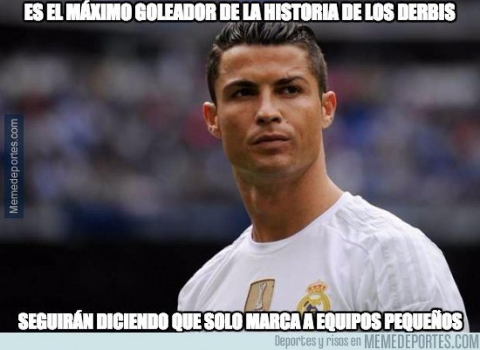 CR7 ha sido el héroe del derbi de Madrid. (Foto: Twitter)