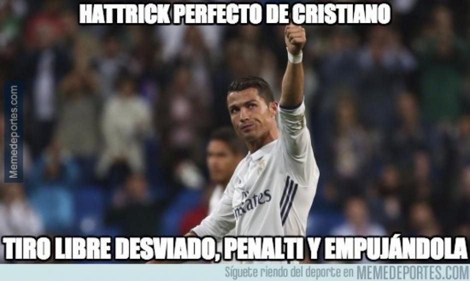 Cristiano marcó triplete en el derbi. (Foto: Twitter)