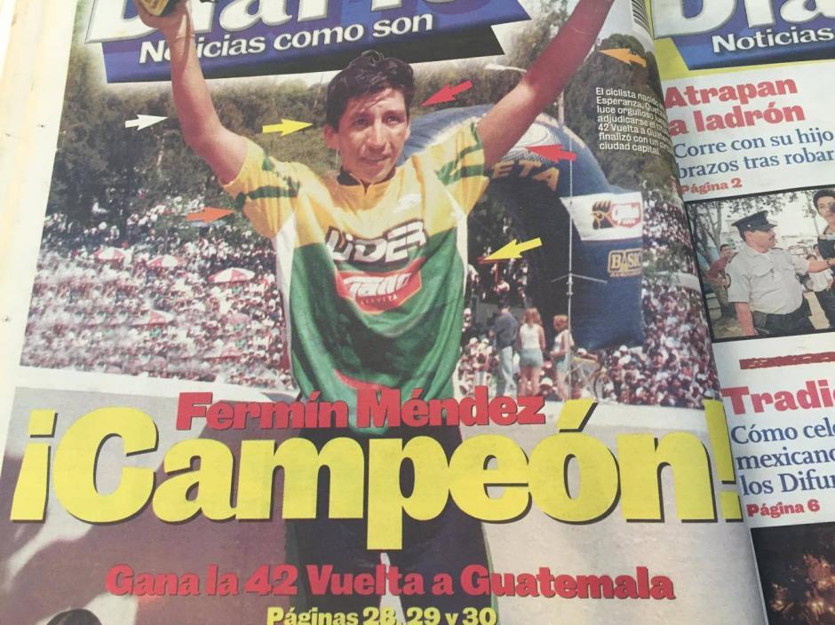 Fermín Méndez se quedó con la edición 42 de la Vuelta a Guatemala, en 2000. (Foto: Hemeroteca nacional)