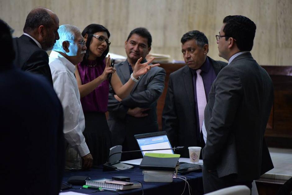 Julio Prado durante una audiencia del caso Cooptación del Estado en la Sala de Vistas de la CSJ. (Foto: Archivo/Soy502)