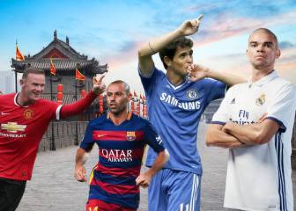 Rooney, Mascherano y hasta Pepe son algunos de los pretendidos en China. (Foto: Twitter)