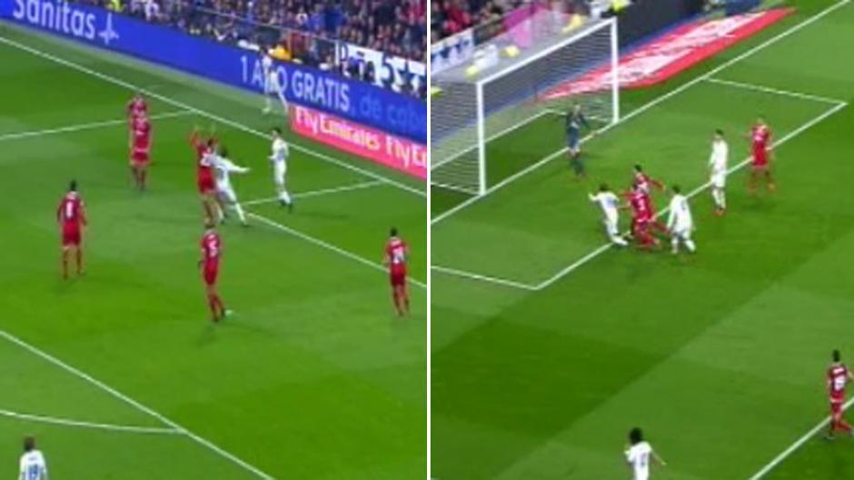 En el gol de Varane, hubo falta que provocó el tiro de esquina aseguran en España. (Foto: Twitter)