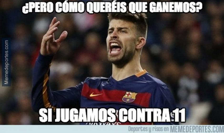 Piqué se quejó por el poco apoyo de los árbitros. (Foto: Twitter)