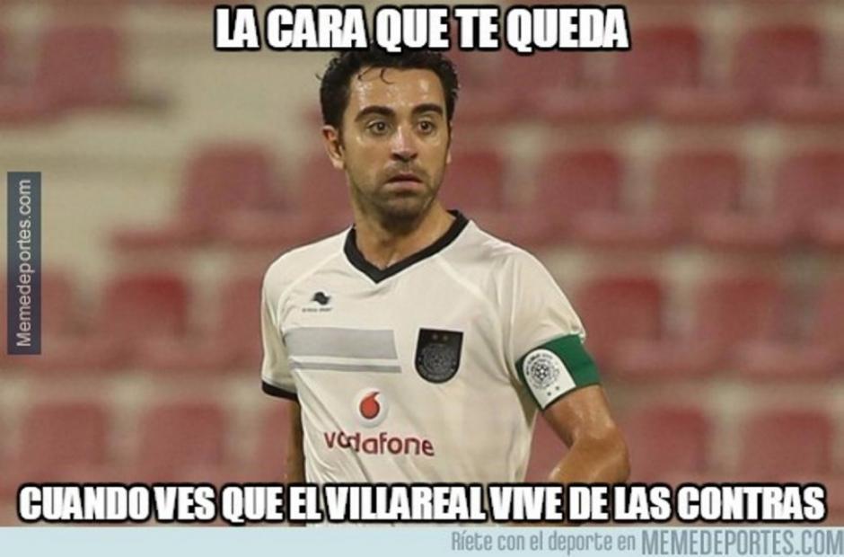 Hasta Xavi se sorprendió del resultado. (Foto: Twitter)