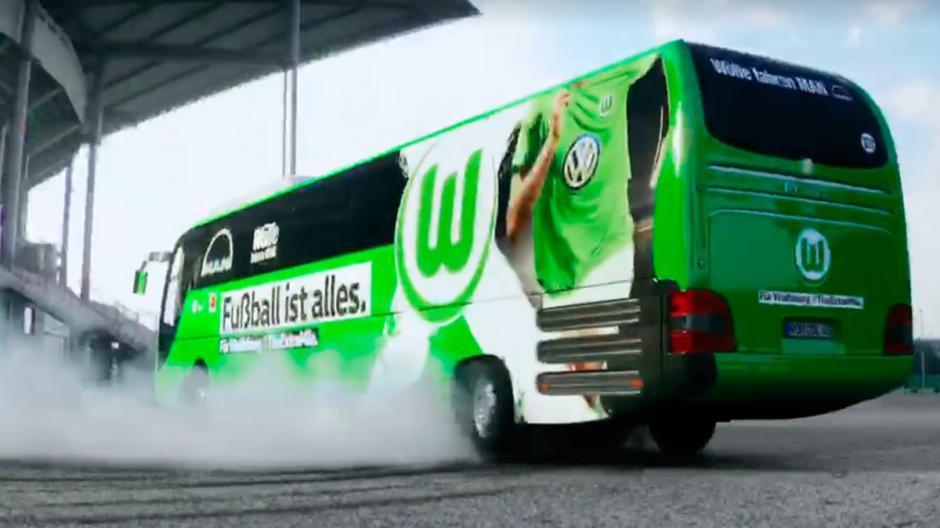 Así derrapó el bus del Wolfsburgo. (Foto: Captura de video)