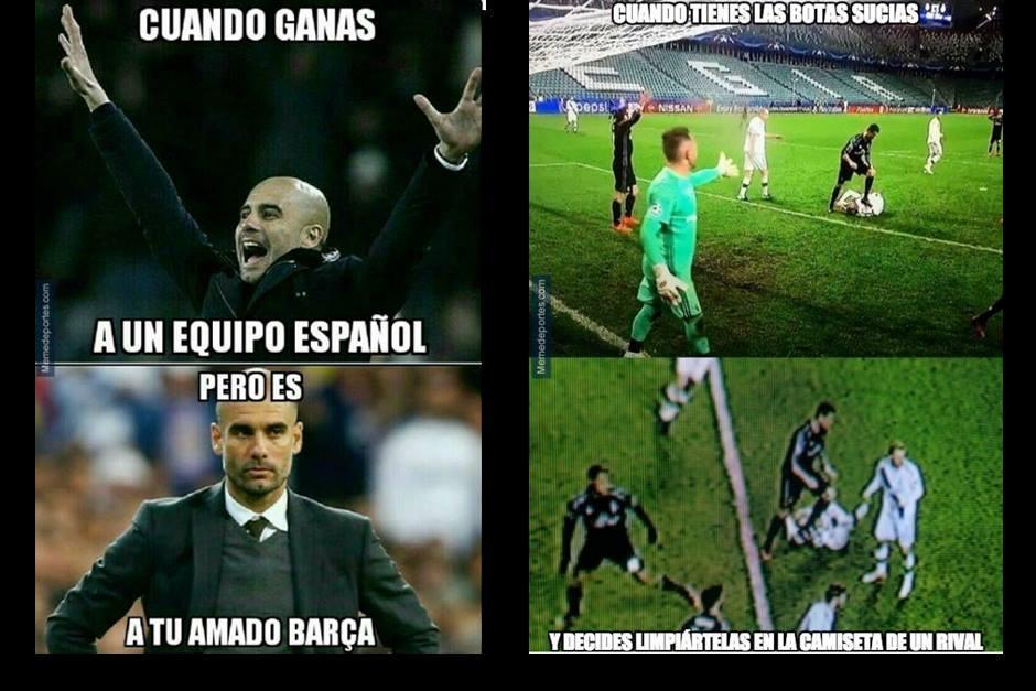 Guardiola venció al Barça, mientras Cristiano...no hizo nada. (MemeDeportes)