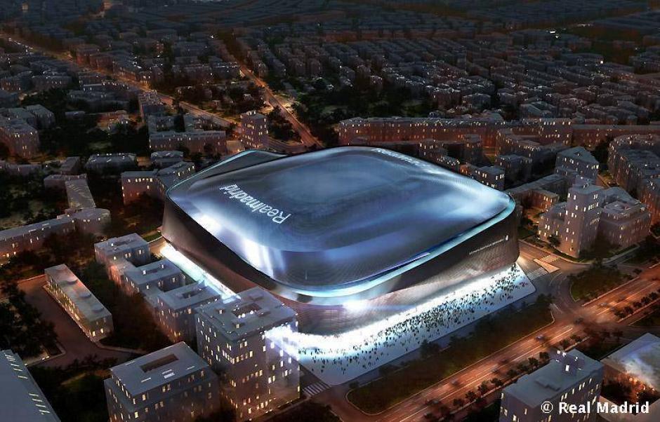 El proyecto contempla la construcción de un techo asimétrico retractil que podrá removerse a cabalidad en 15 minutos. (Imagen: Real Madrid)