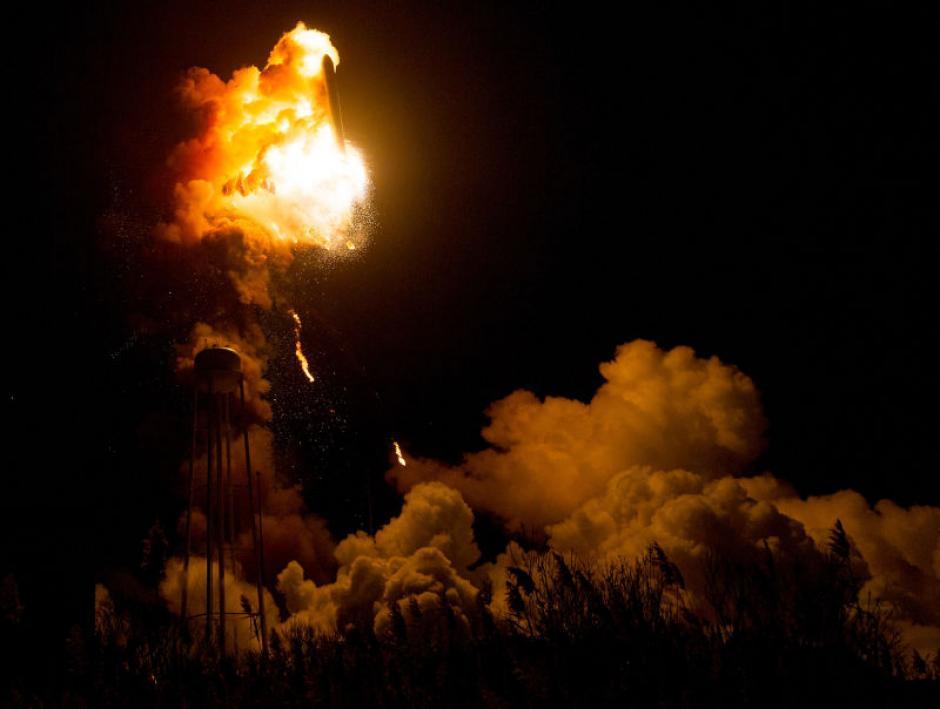 El 28 de octubre de 2014 el cohete Antares explotó. (Foto: Imagen: Flickr/NASA)