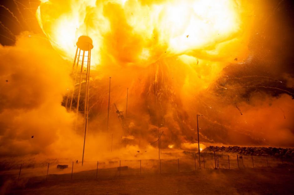 La NASA comparte en su cuenta de Flick imágenes inéditas de la explosión del cohete Antares. (Imagen: Flickr/NASA)