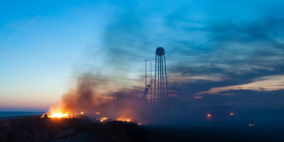 Las fotografías de la explosión fueron tomada desde diferentes puntos de la Isla Wallops, en Virginia.(Foto: Flickr/NASA)