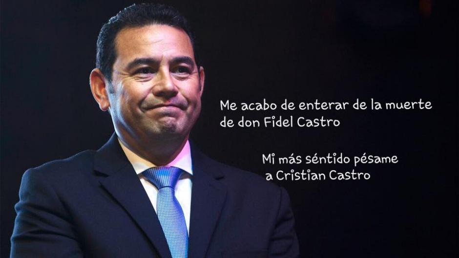 El presidente de Guatemala también fue blanco de las burlas. (Foto: Twitter)
