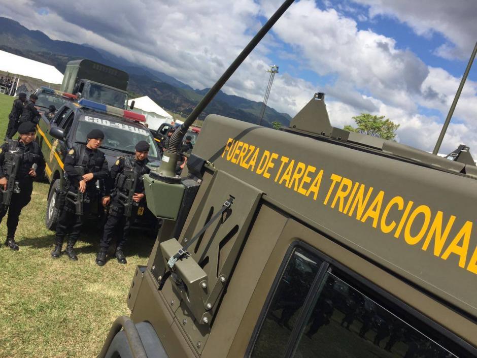 """La """"Fuerza de Tarea Trinacional esta conformada por Guatemala, El Salvador y Honduras. (Foto: Mingob)"""