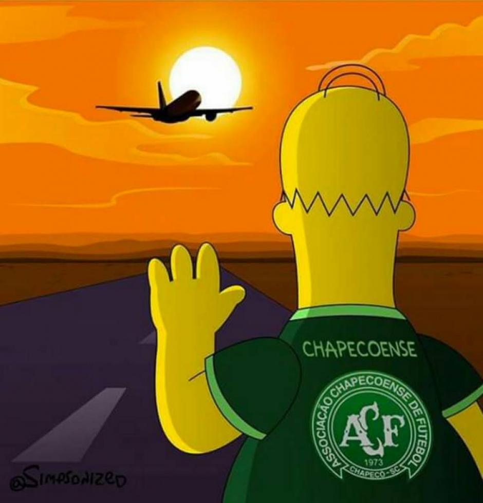 Homero Simpson despide al club con mucho sentimiento. (Foto: Twitter)