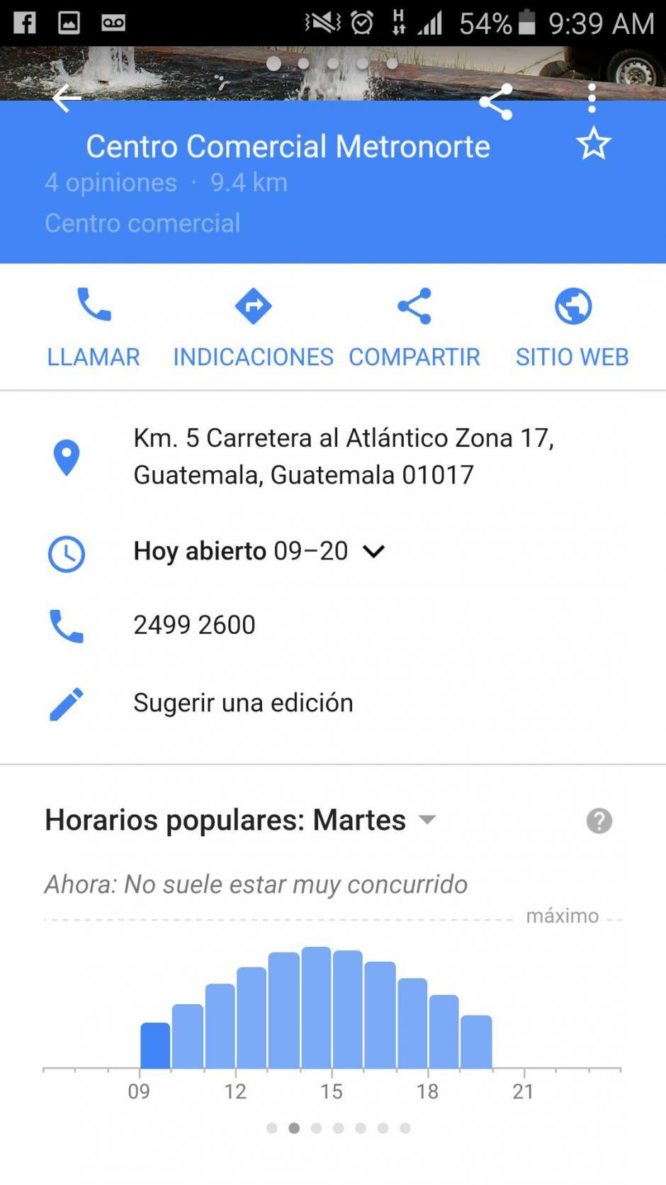 Ahí podrás tener información completa del lugar que pretendes visitar. (Imagen: captura de pantalla/Soy502)