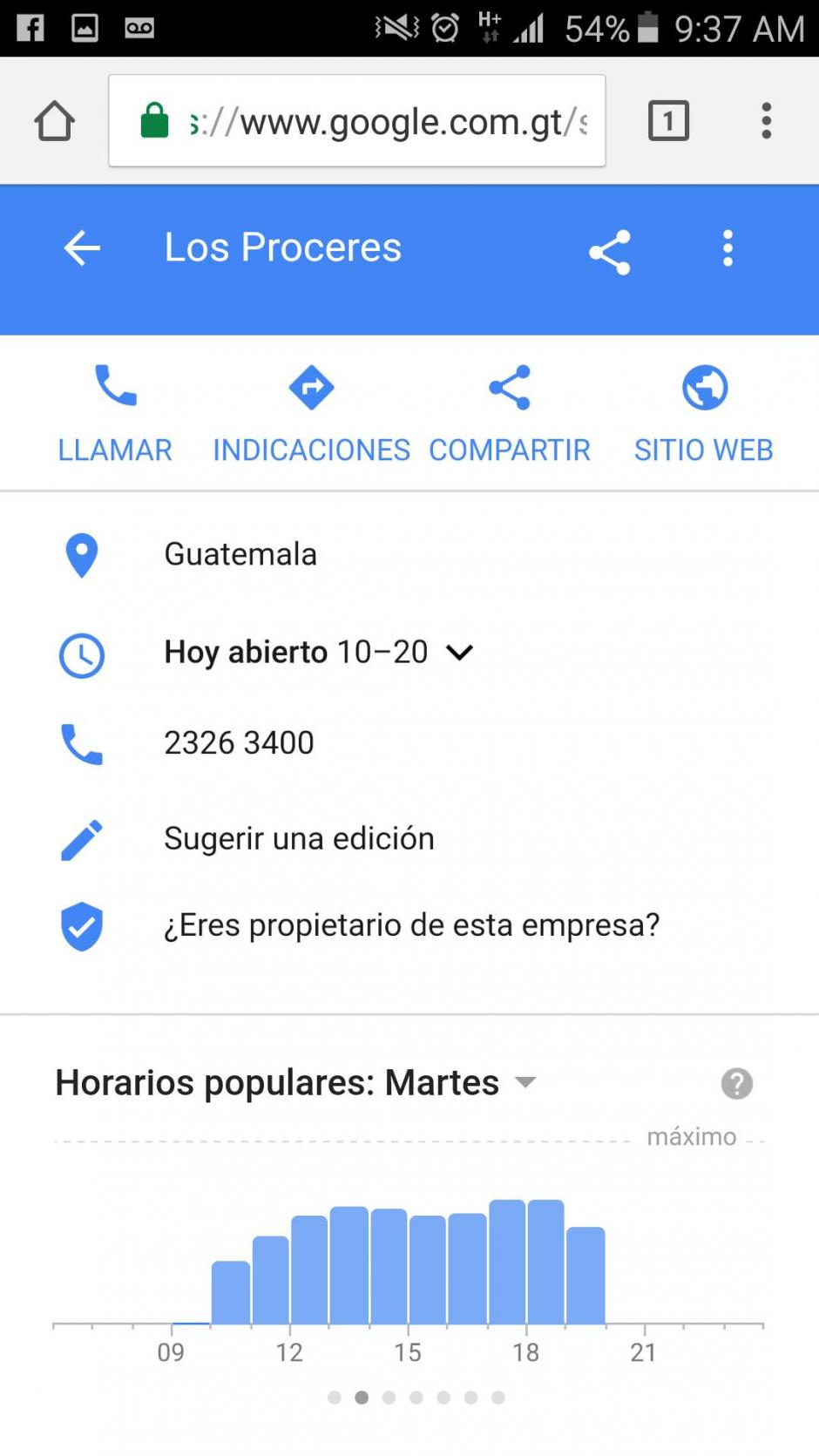Solo debes realizar una búsqueda en tu celular para encontrar la información. (Imagen: captura de pantalla/Soy502)