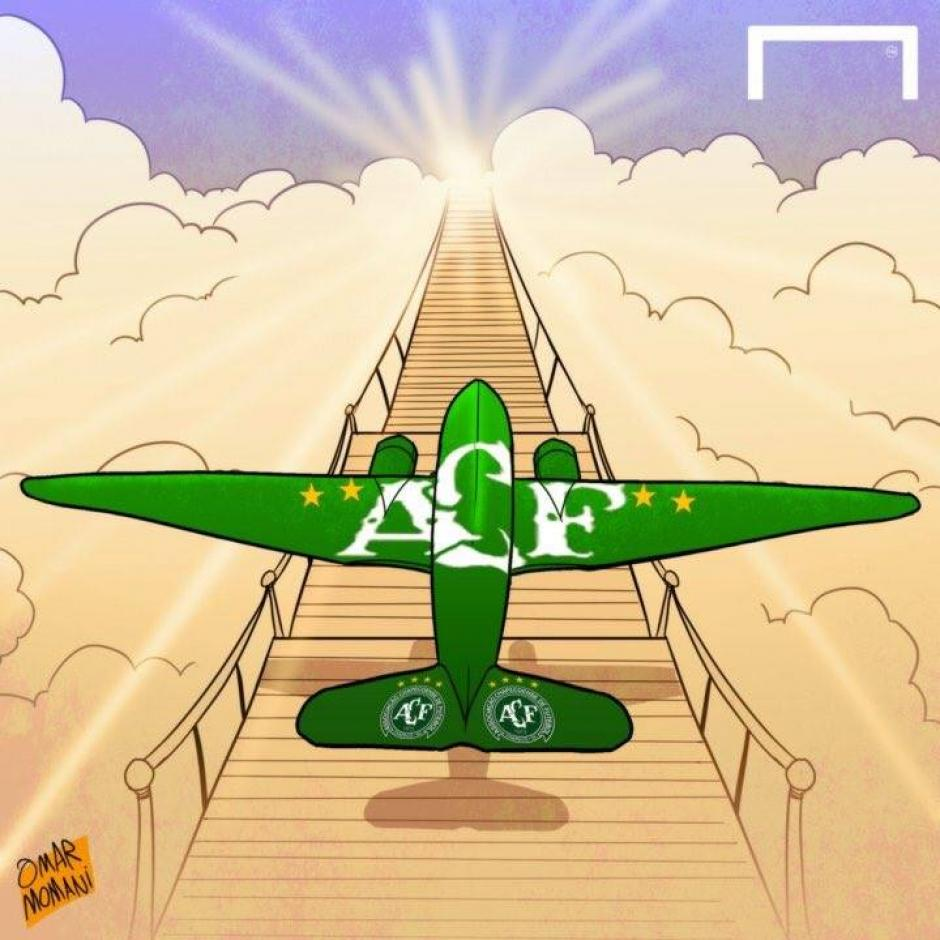 El vuelo del club brasileño voló hacia la eternidad. (Foto: Twitter)