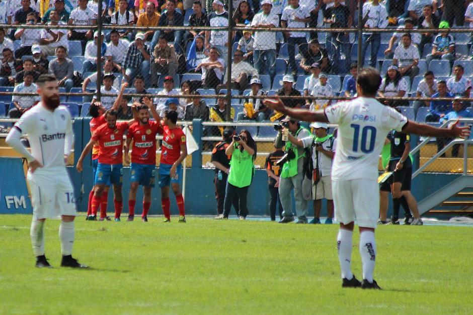 Municipal celebra su gol al 55'. (Foto: José Dávila/Soy502)