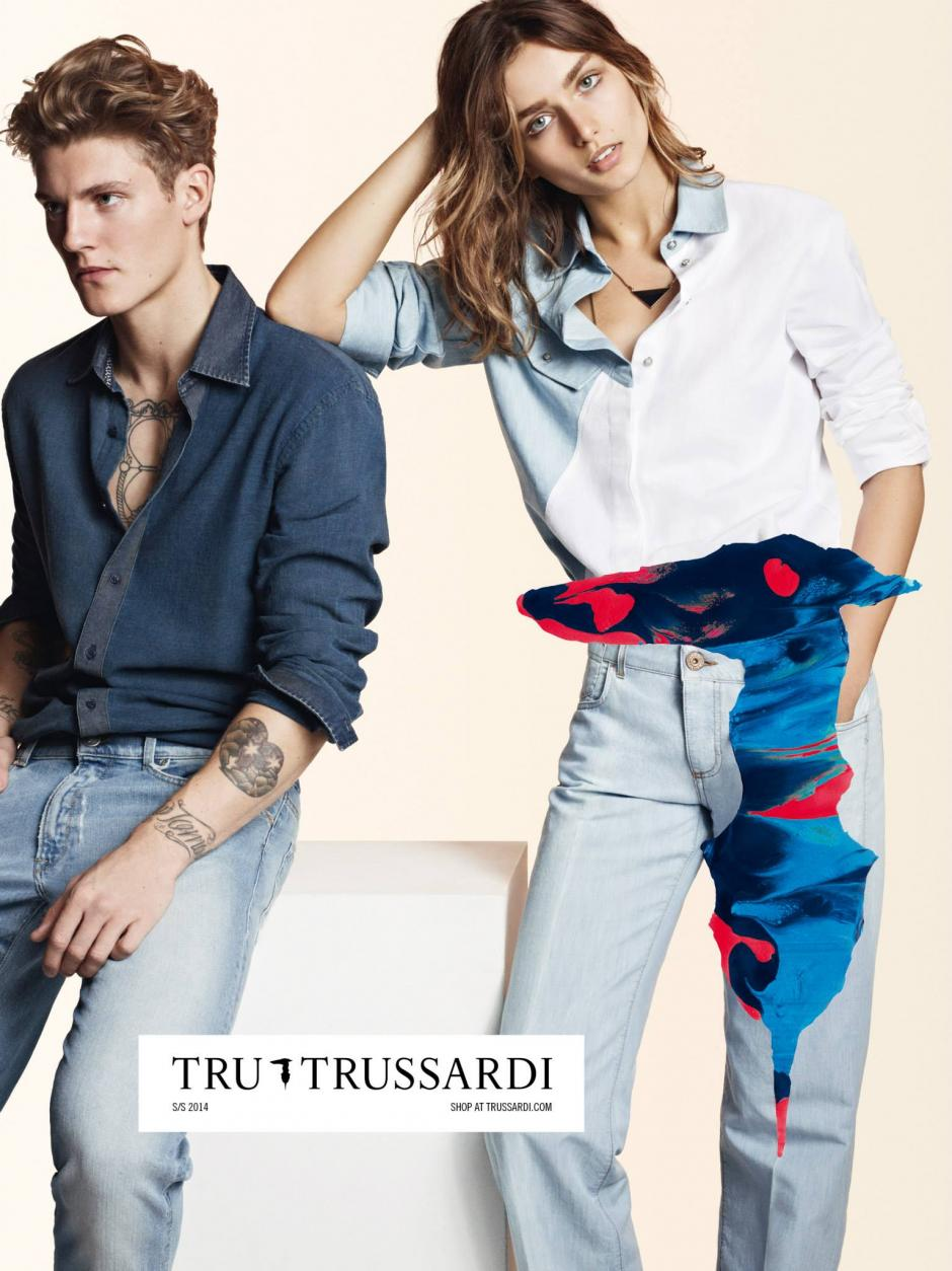 De esta manera se presenta la campaña publicitaria para televisión y afiches de Trussardi. Foto Trussardi