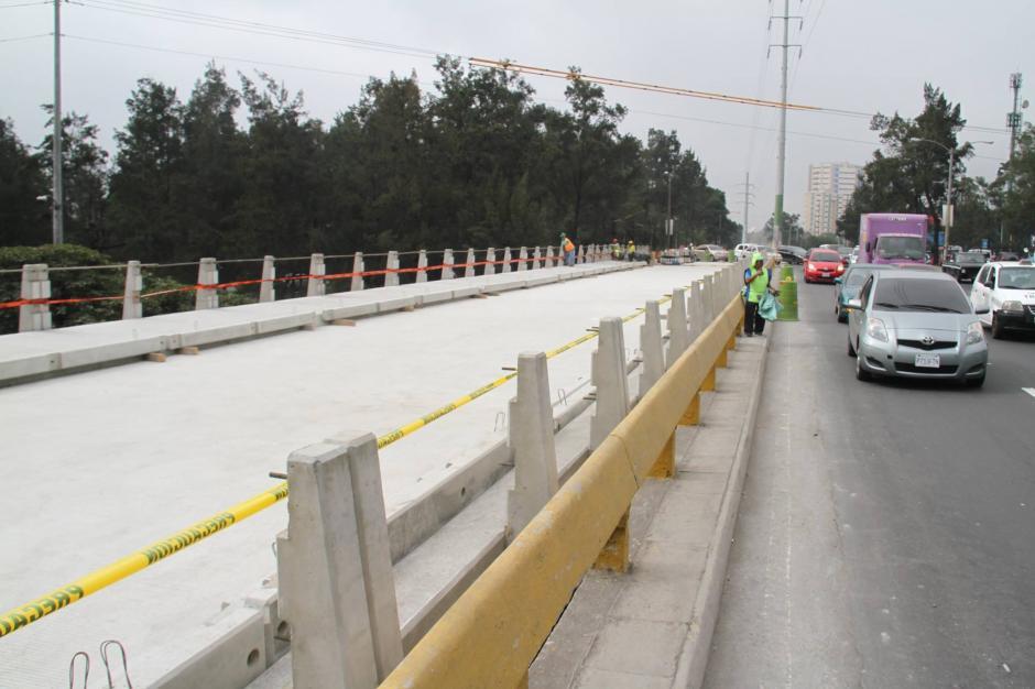 La ampliación al puente del Periférico está en la última fase. (Foto: Muni Guate)
