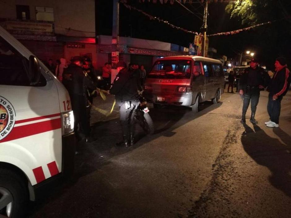 Un conductor fue baleado en Ciudad San Cristóbal. (Foto: Bomberos Voluntarios)