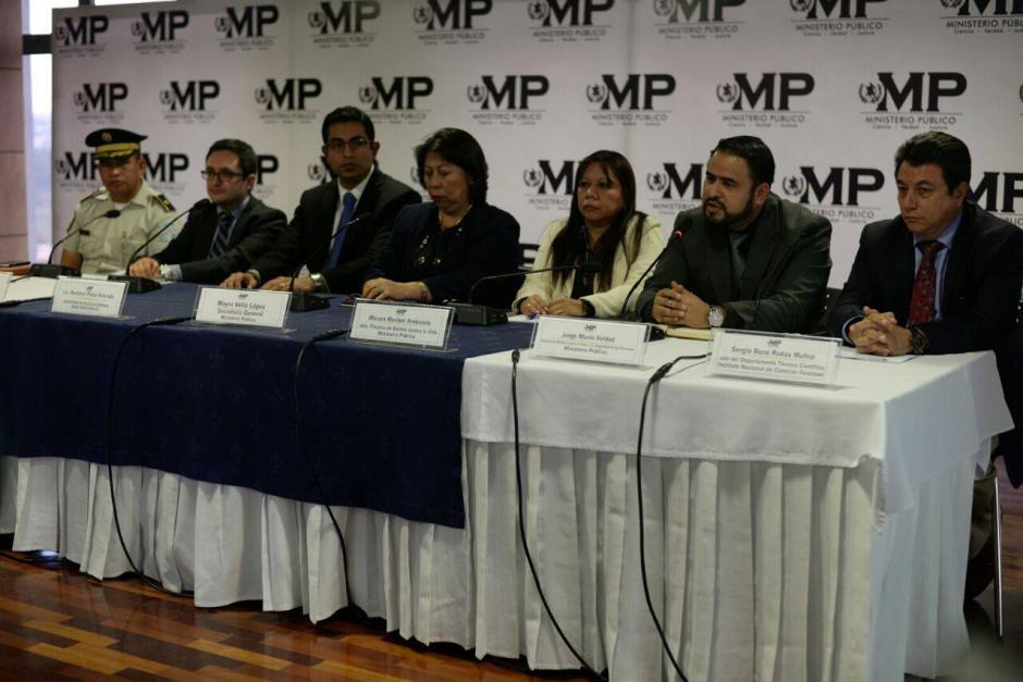 Durante una conferencia de prensa interinstitucional, dieron detalles de la muerte del exministro Pavel Centeno. (Foto: Wilder López/Soy502)