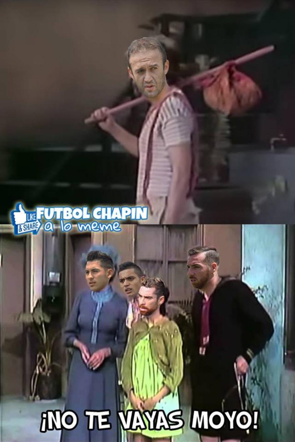 Los cremas extrañarán a José Manuel Contreras. (Foto: Futbol Chapin a lo Meme)