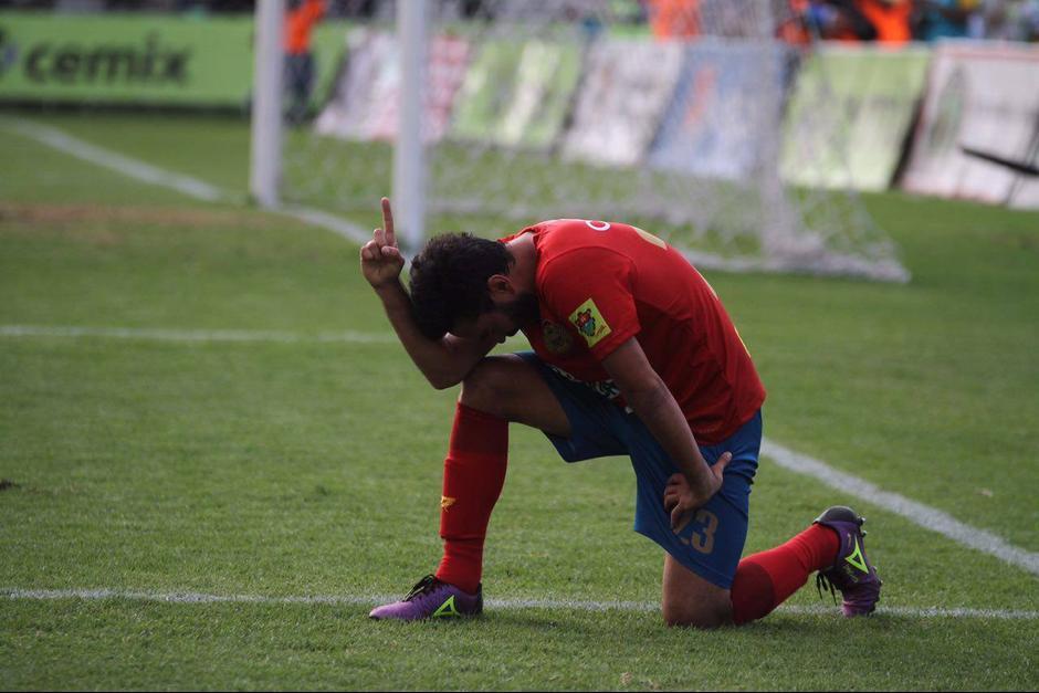 Kamiani celebró el gol anotado a Antigua GFC. (Foto: Luis Barrios/Soy502)