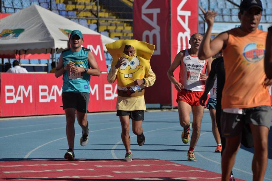 Bob Esponja se convirtió en corredor luego de salir de Nickelodeon. (Foto: Wilder López/Soy502)