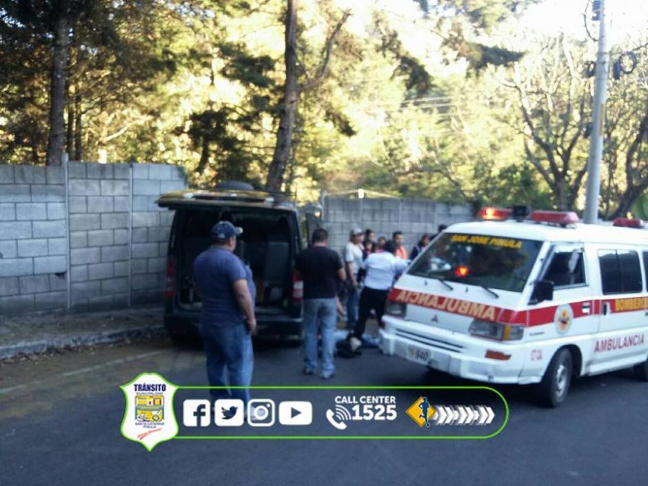 El incidente de transito dejó varios heridos. (Foto: PMT Santa Catarina Pinula)