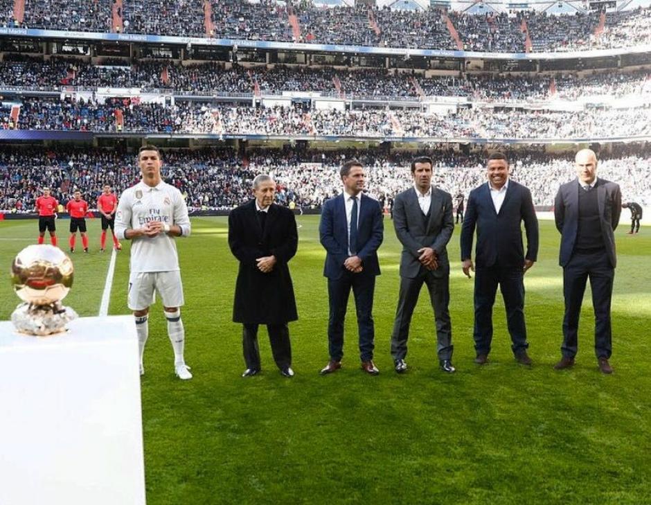 El brasileño participó en un homenaje a Cristiano Ronaldo, ganador del Balón de Oro. (Foto: Ronaldo Nazario)