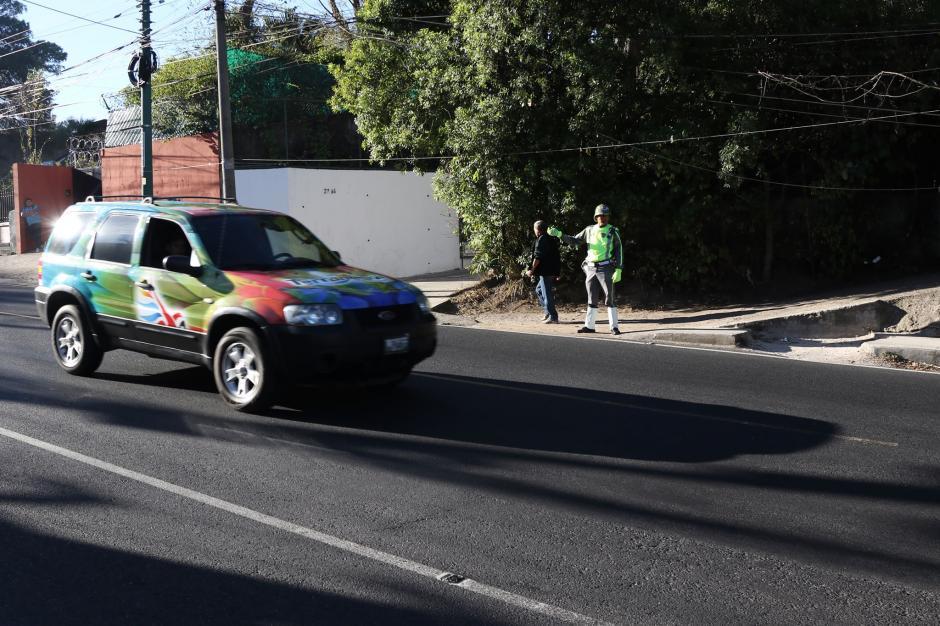 La 20 calle tenía una movilidad fluida. (Foto: Alejandro Balán/Soy502)