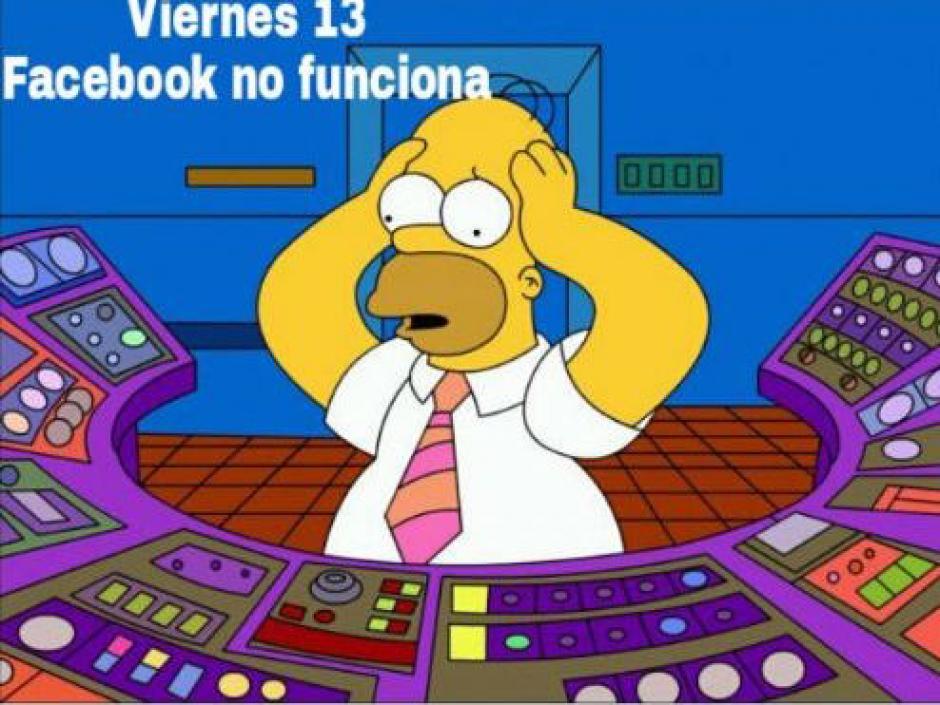 Homero también sufrió con la caída de Facebook. (Foto: Twitter)
