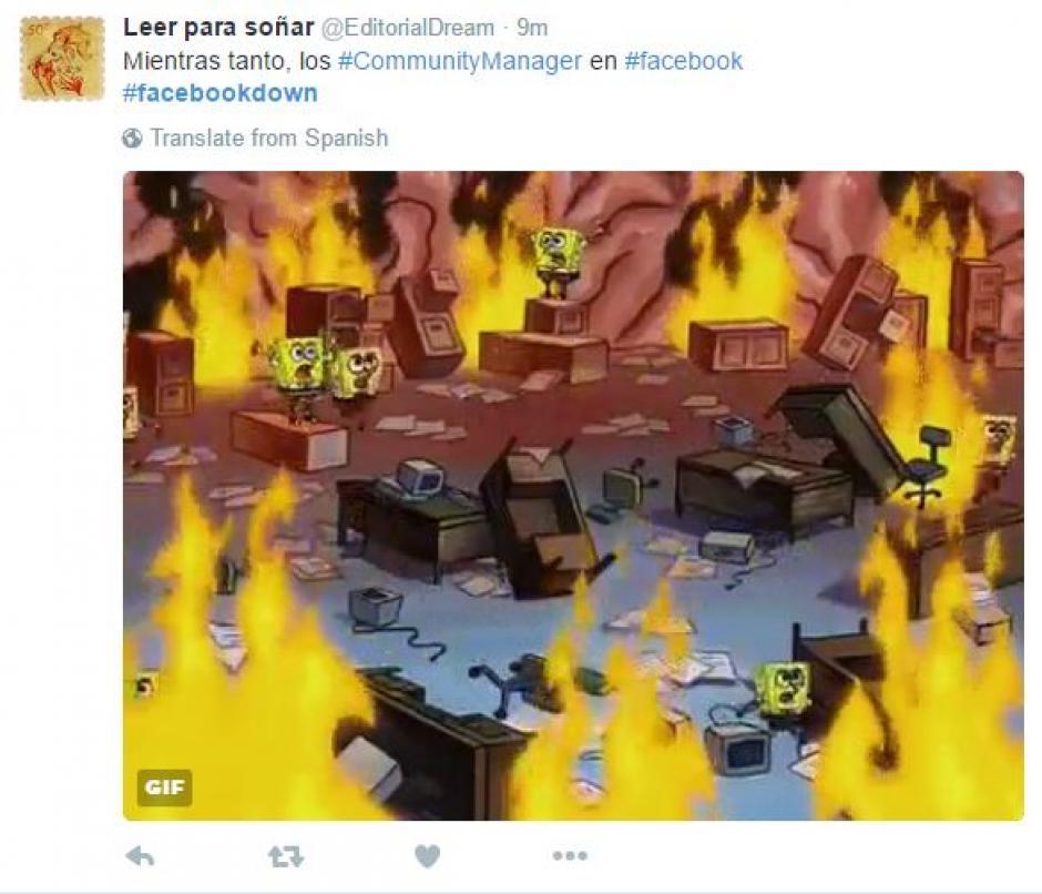 Las redes ardieron por la caída de Facebook. (Foto: Twitter)