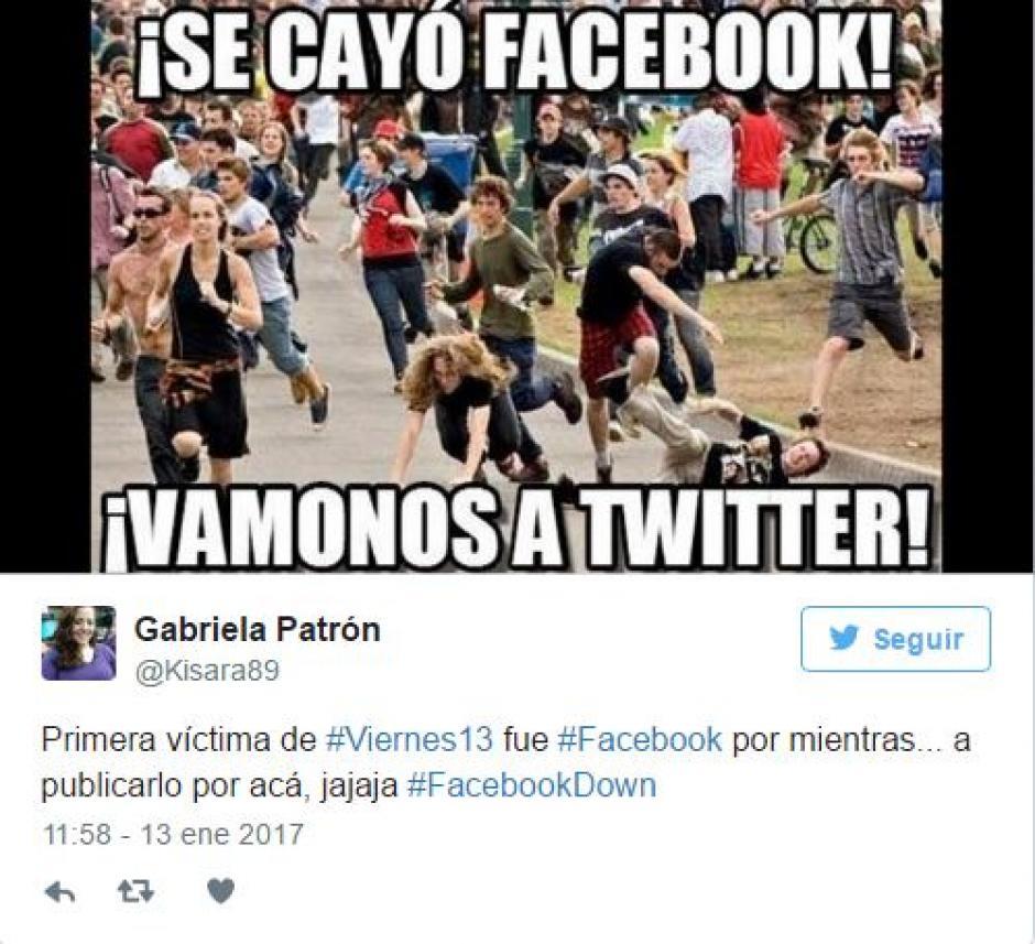 Algunos se fueron a Twitter para comentar que Facebook había caído. (Foto: Twitter)
