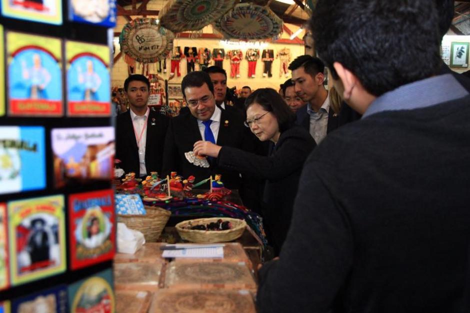 La presidenta de Taiwán Tsai Ing-wen visitó la Antigua Guatemala. (Foto: Gobierno de Guatemala)