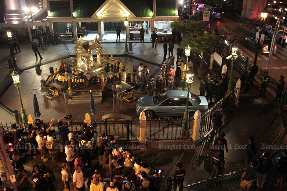 Varias personas resultaron con heridas leves debido al choque . (Foto: Panumas Sanguanwong)