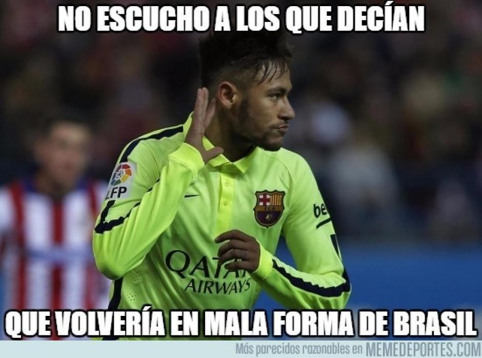 Neymar calló algunas bocas, pues muchos decían que no venía en forma tras su viaje a Brasil. (Foto: marca.com)