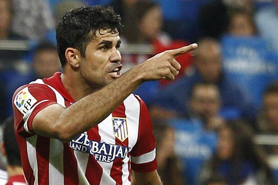 Diego Costa celebra el gol anotado al Real Madrid.