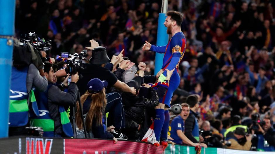 El argentino sacó toda su furia y alegría para compartirla con los seguidores catalanes. (Foto: FC Barcelona)