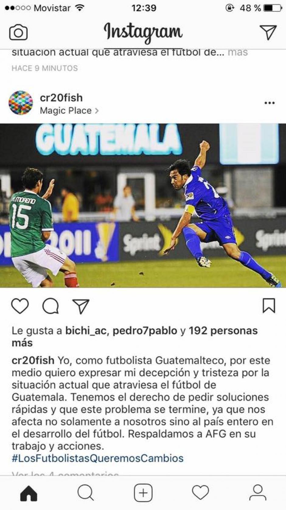 Carlos Ruiz inició este movimiento que se está volviendo viral. (Foto: Instagram)