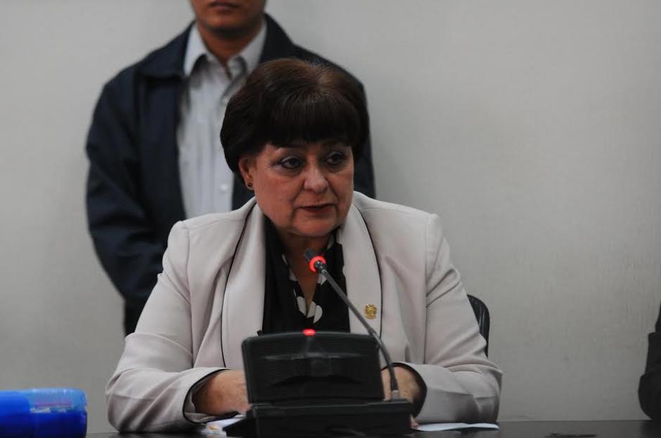"""Eugenia Castellanos, presidenta del Tribunal de Mayor Riesgo """"B"""" durante el inicio del juicio por un caso de genocidio. (Foto: Alejandro Balán/ Soy502)"""