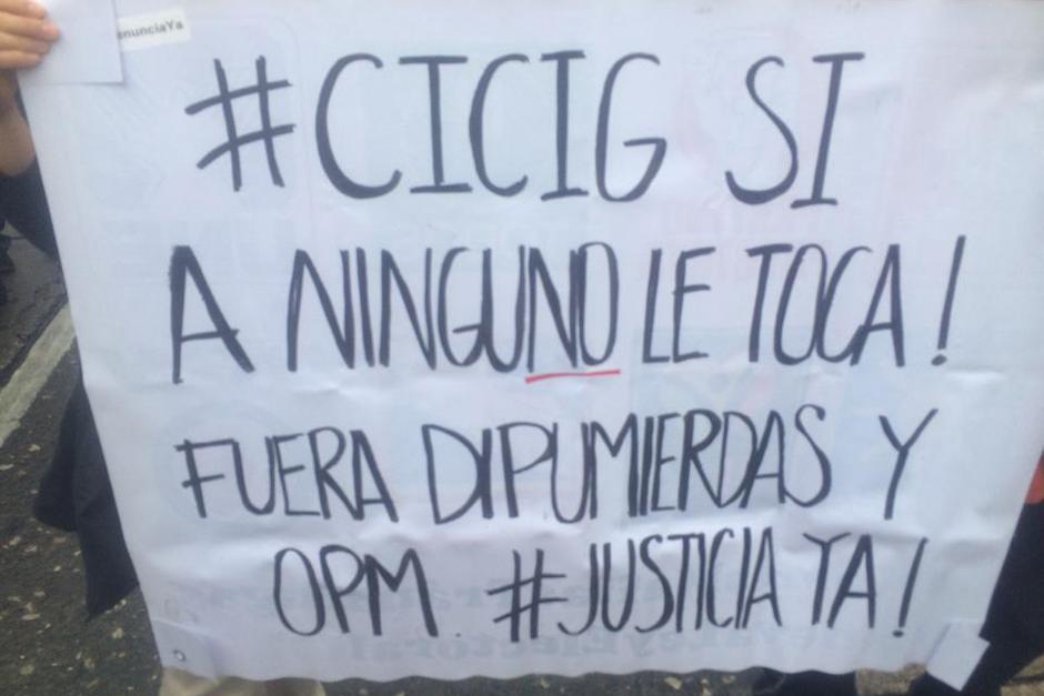 El apoyo a la CICIG y los señalamientos a los diputados del Congreso estuvieron a la orden del día. (Foto: Luis Barrios/Soy502)