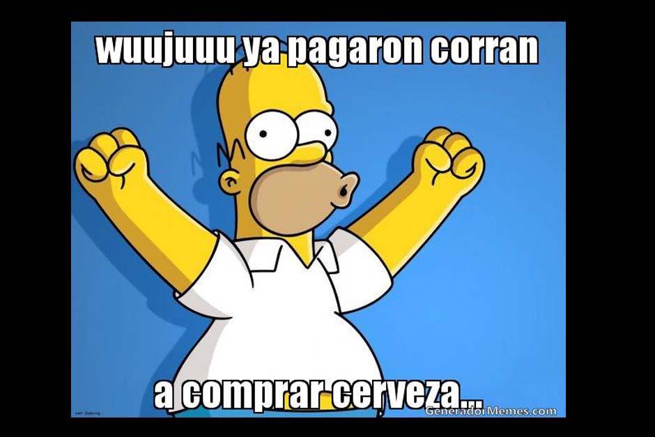 Homero Simpson sabe para que quiere el dinero de su quincena. (Foto: Twitter)