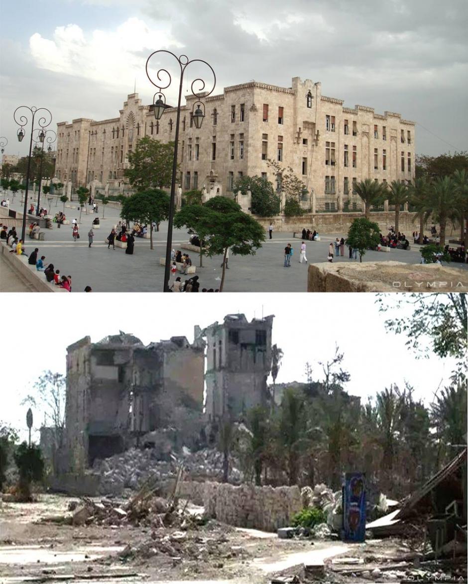 Reconstrucción arqueológica de la vieja ciudadela de Alepo (Foto: Olympia.Rest/Facebook)