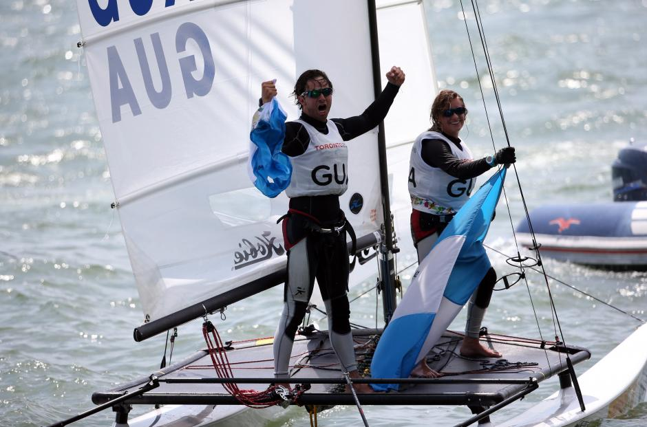 En hobie cat, Guatemala ganó su segunda medalla de oro en la historia de Panamericanos, la primera fue en 2007. (Foto: Comite Olímpico Guatemalteco)