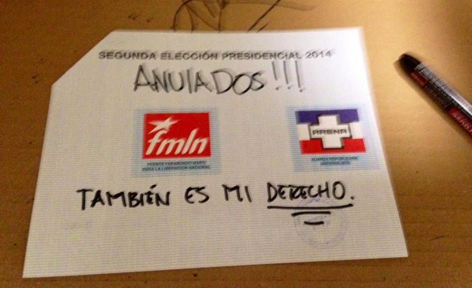 Voto nulo en las Elecciones de El Salvador. (Foto: El Faro)