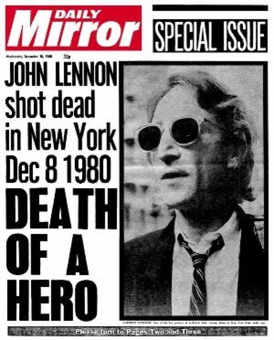 """""""La muerte de un héroe"""", tituló el Daily Mirror tras su asesinato."""