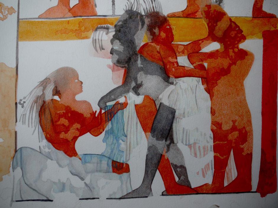 Los frescos en las bóvedas demuestran una técnica pulida que conservó los pigmentos. (Foto: Ministerio de Cultura y Deportes)